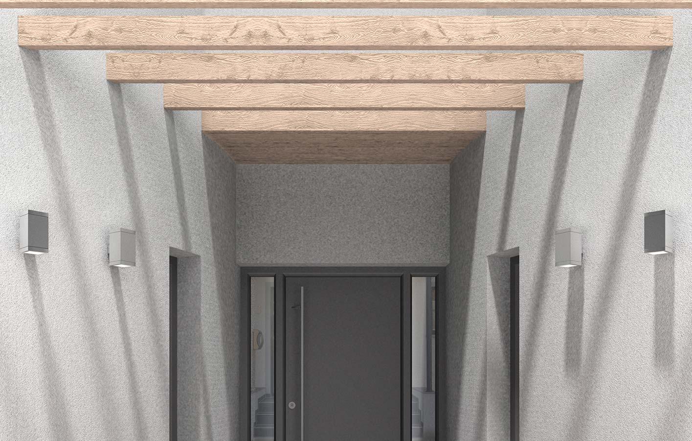 Holz Vordach
